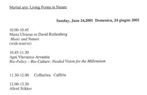 Gaia and Culture, Italy, 2001 - Programme-002