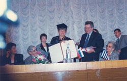 Honourary Doctorate, Mendeleyev University Programme 1997-ph3