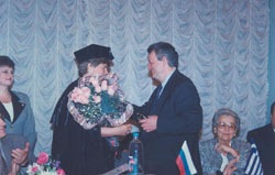 Honourary Doctorate, Mendeleyev University Programme 1997-ph4