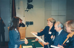 Honourary Doctorate, Mendeleyev University Programme 1997-ph5