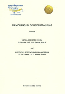 3 honors. memorandum of cooperation with the Vienna Economic Forum