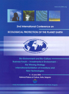 Ecological Protection of Planet Earth, Sofia 2003 Programme1