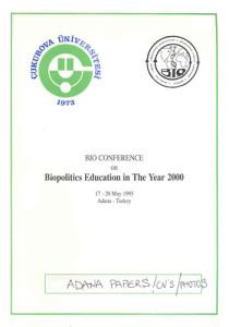 1995_Biopolitics Education in the Year 2000, Adana Turkey_PROGR_001