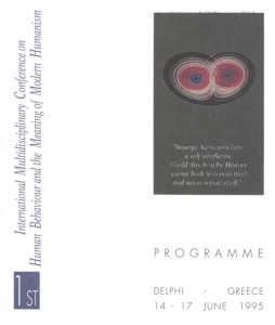 1995_Human Behaviour and Meaning of Modern Humanism, Delphi_Programme