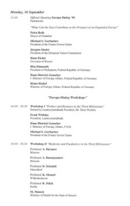 1996_Europe Dialogue, Frankfurt Programme2