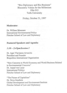Bio Diplomacy and Bio Business, USA 1997_PROGR_002