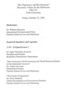 Bio Diplomacy and Bio Business, USA 1997_PROGR_002