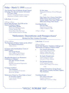 4th AFGLC Forum. Florida, 1999 - Programme2