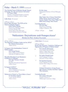 4th AFGLC Forum. Florida, 1999 - Programme2