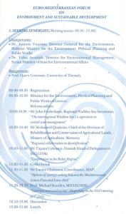 Euro-Mediterranean Forum, 2002 - Programme_PROGR_002
