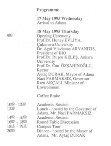 1995_Biopolitics Education in the Year 2000, Adana Turkey_PROGR_003