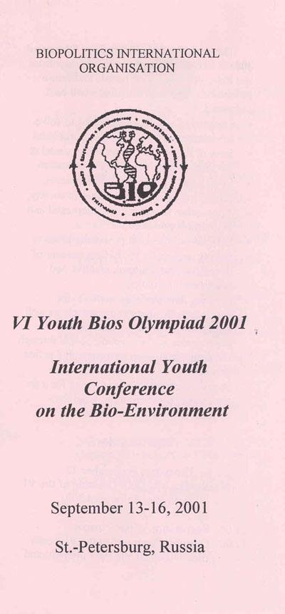 6th Youth Bios Olympiad programme