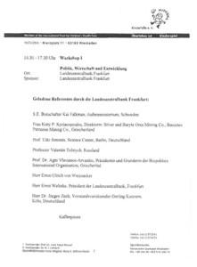 1996_Europe Dialogue, Frankfurt Programme4